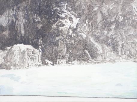 Ferry, acrylic on linen, 18 x 24''